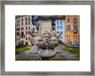 Fontana Del Pantheon Framed Print