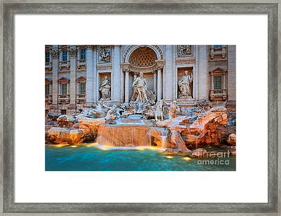 Fontana Di Trevi Framed Print by Inge Johnsson