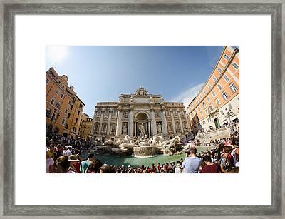 Fontana Di Trevi Framed Print by Pablo Lopez