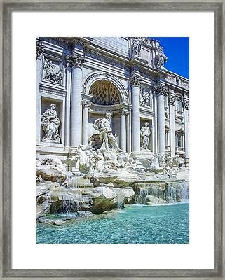 Fontana Di Trevi Rome Framed Print by Julie Palencia