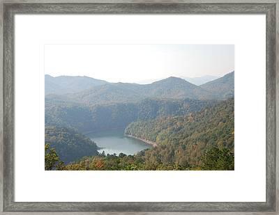 Fontana Lake Fall View Framed Print