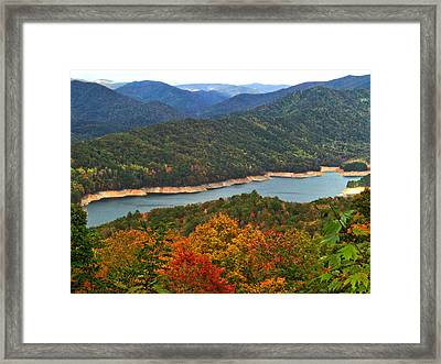 Fontana Lake In Fall Framed Print