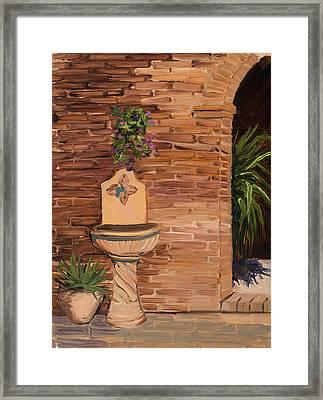 Fontana Framed Print by Mary Giacomini