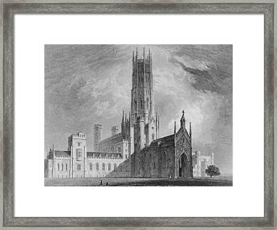 Fonthill Abbey From The North-west Framed Print by English School