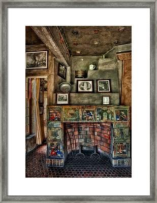 Fonthill Castle Bedroom Fireplace Framed Print by Susan Candelario