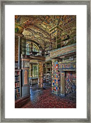 Fonthill Castle Library Room Framed Print by Susan Candelario
