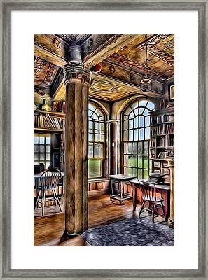 Fonthill Castle Office Framed Print by Susan Candelario