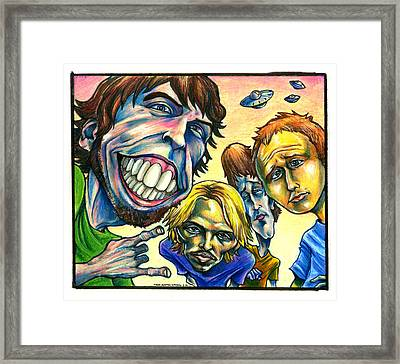 Foo Fighters Framed Print by John Ashton Golden