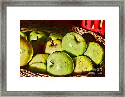 Food - A Basket Of Apples Framed Print by Paul Ward
