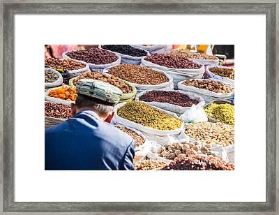 Food At Local Bazaar - Kashgar - China Framed Print by Matteo Colombo