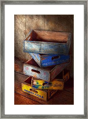 Food - Beverage - Pepsi-cola Boxes  Framed Print