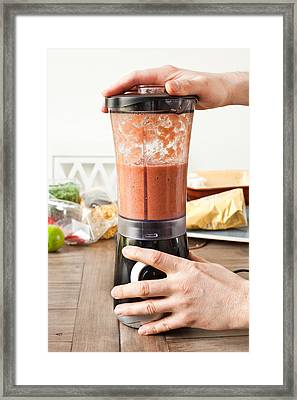 Food Blender Framed Print by Tom Gowanlock