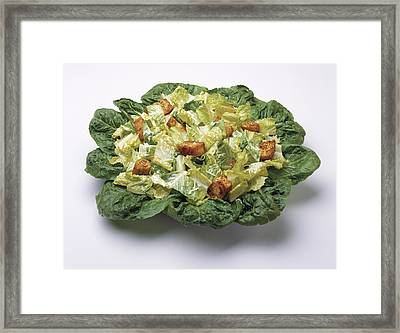 Food - Caesar Salad Prepared Framed Print by Ed Young