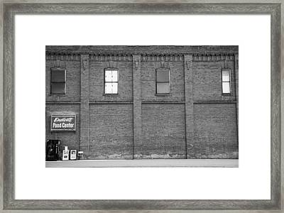 Food Center Framed Print