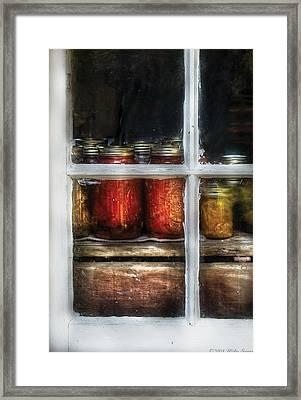 Food - Country Preserves  Framed Print by Mike Savad