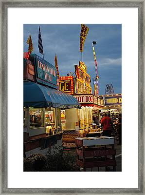 Food Court Framed Print