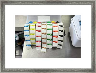 Food Date Labels Framed Print