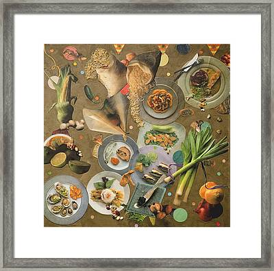 Food For Thought 3 Of 6 Framed Print by Alice Harrison