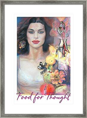 Framed Print featuring the mixed media Food For Thought by Brooks Garten Hauschild