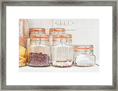 Food Jars Framed Print by Tom Gowanlock