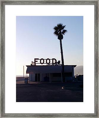 Food With Palm Framed Print