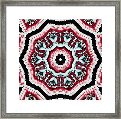 Food Mixer Mandala Framed Print