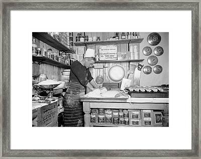 Food Preparation In Antarctica Framed Print by Scott Polar Research Institute
