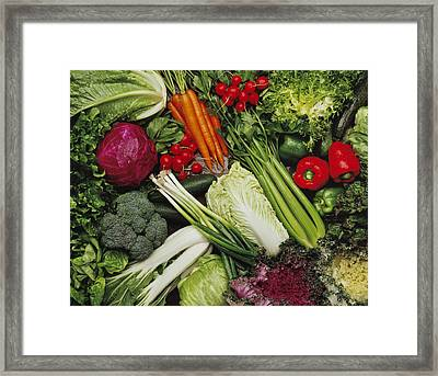 Food- Produce, Mixed Vegetables Framed Print by Ed Young