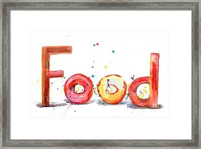 Food Framed Print by Regina Jershova