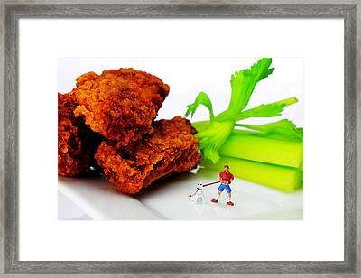 Food Temptation II Little People On Food Framed Print by Paul Ge