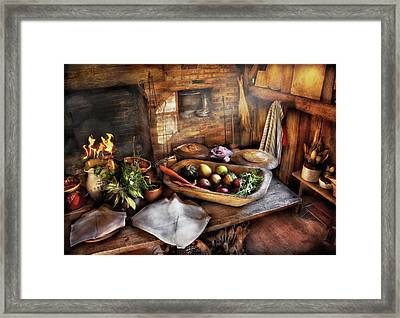 Food - The Start Of A Healthy Meal  Framed Print by Mike Savad