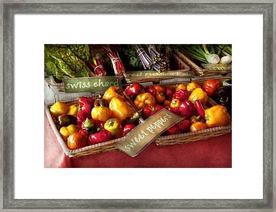 Food - Vegetables - Sweet Peppers For Sale Framed Print