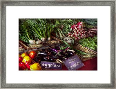 Food - Vegetables - Very Fresh Produce  Framed Print