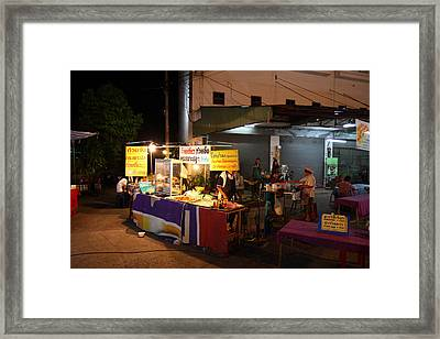 Food Vendors - Night Street Market - Chiang Mai Thailand - 011315 Framed Print by DC Photographer
