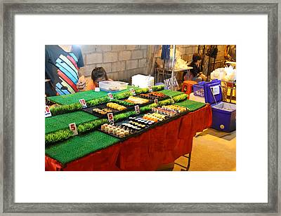 Food Vendors - Night Street Market - Chiang Mai Thailand - 01137 Framed Print by DC Photographer