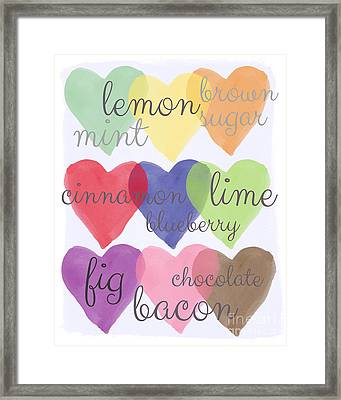 Foodie Love Framed Print by Linda Woods