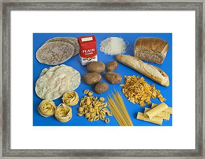 Foods Containing Starch Framed Print