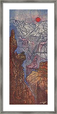 Fool On The Hill Framed Print by Maria Arango Diener