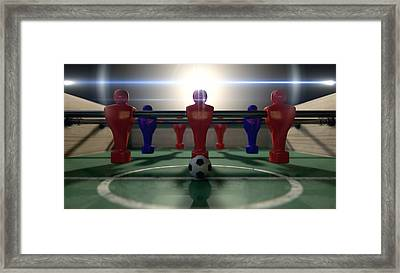 Foosball Table Framed Print