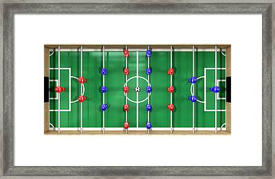 Foosball Table Top View Framed Print