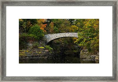 Foot Bridge At Beebe Lake Framed Print