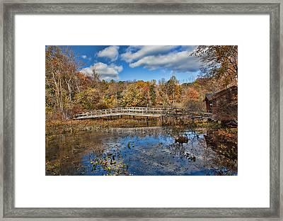 Foot Bridge Framed Print by June Marie Sobrito