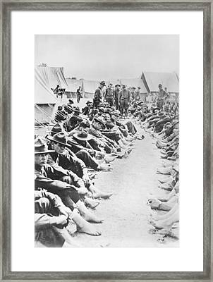 Foot Inspection Framed Print by Library Of Congress