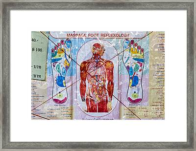 Foot Massage Framed Print by Luciano Mortula