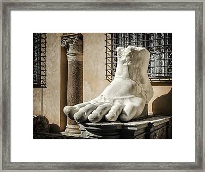 Foot Of Constantine Framed Print