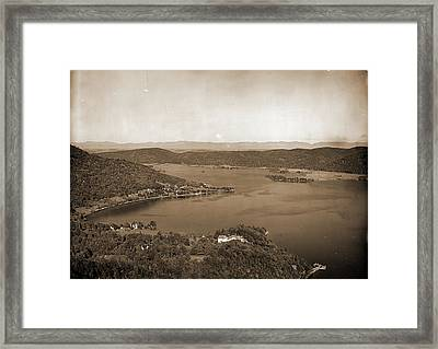 Foot Of Lake From Rogers Rock Heights, Lake George, Lakes & Framed Print