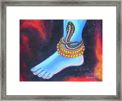 Foot Of Nataraj Framed Print by Agnieszka Ledwon