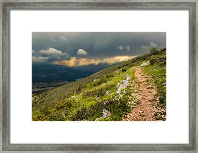 Foot Path Into The French Alps Framed Print