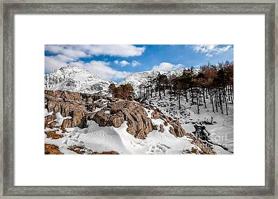 Foot Prints Framed Print