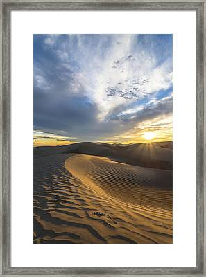 Foot Prints In The Sand Framed Print by Dustin  LeFevre